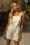 Sophia Playsuit - White