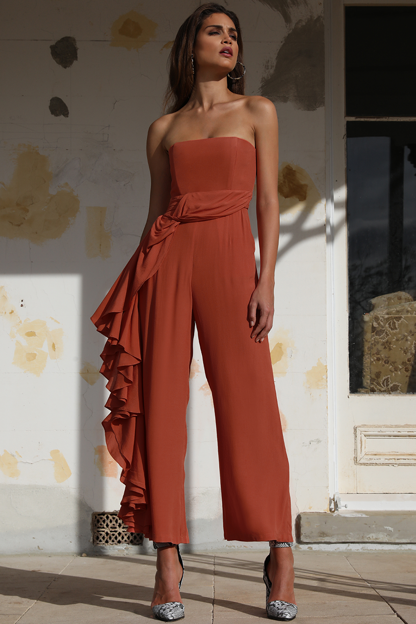 HOEDOWN JUMPSUIT - BURNT