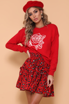 Isabella Knit Sweater - Red/White