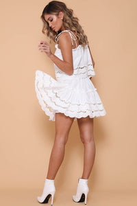 ALANNAH MINI SKIRT - WHITE