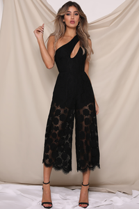 ROSIE JUMPSUIT - BLACK LACE