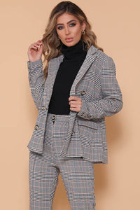 LUCY PLAID BLAZER