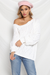 AMELIA KNIT SWEATER - WHITE