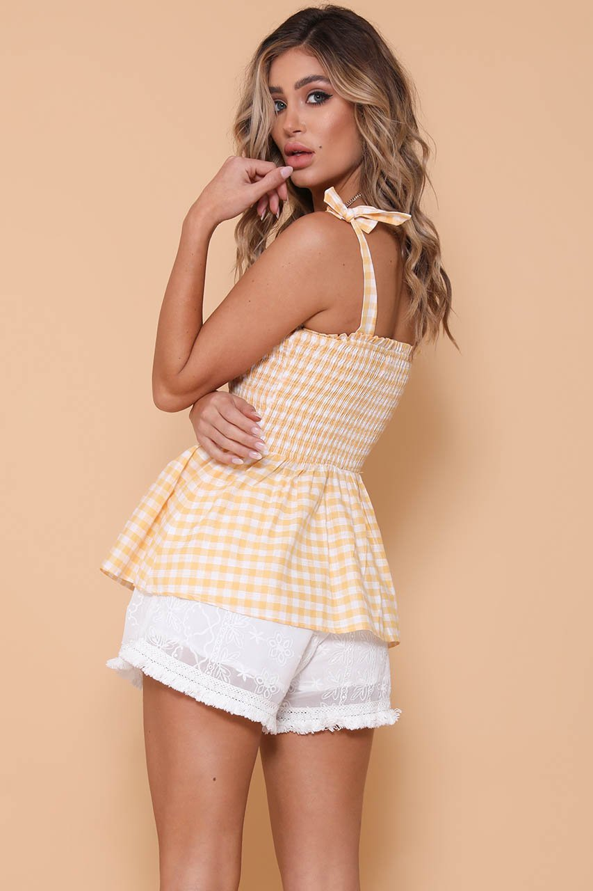 SKYLAR TOP - MANGO GINGHAM