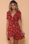 Dharma Wrap Dress - Rust