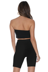 RIB BANDEAU TOP - BLACK