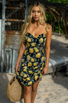 Limoncello Slip Dress - Lemon Print