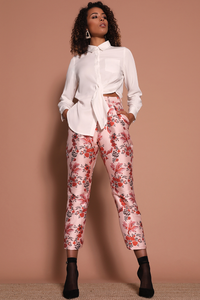Cherry Blossom Pants - Multi Floral