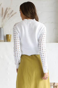 Iris Knit Sweater - White