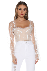 Chloe Top - White Spot