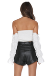 BONNIE BARDOT TOP - OFF WHITE