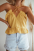 AUDREY SWING TOP - MUSTARD
