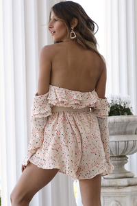 PETAL PLAYSUIT - CREAM PRINT