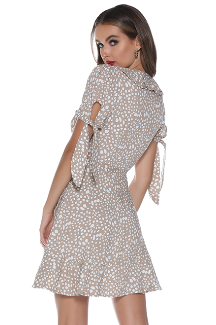 MI AMOR SS WRAP DRESS - SAND
