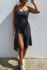 CHARLIE MIDI DRESS - BLACK SPOT