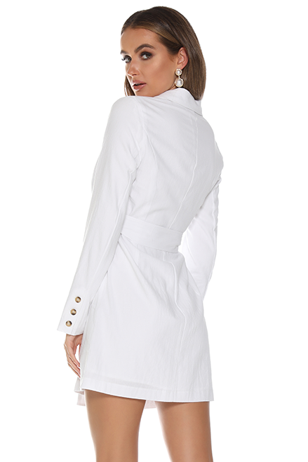 LOVER BLAZER DRESS - WHITE