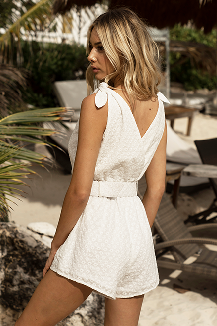 Sunshine Playsuit - White