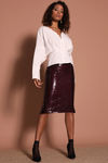 Shinku Skirt - Mulberry
