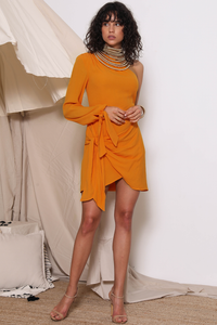 SIMBA MINI DRESS - PAPAYA