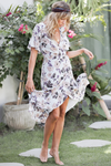 Violet Maxi Wrap Dress - Blue Floral