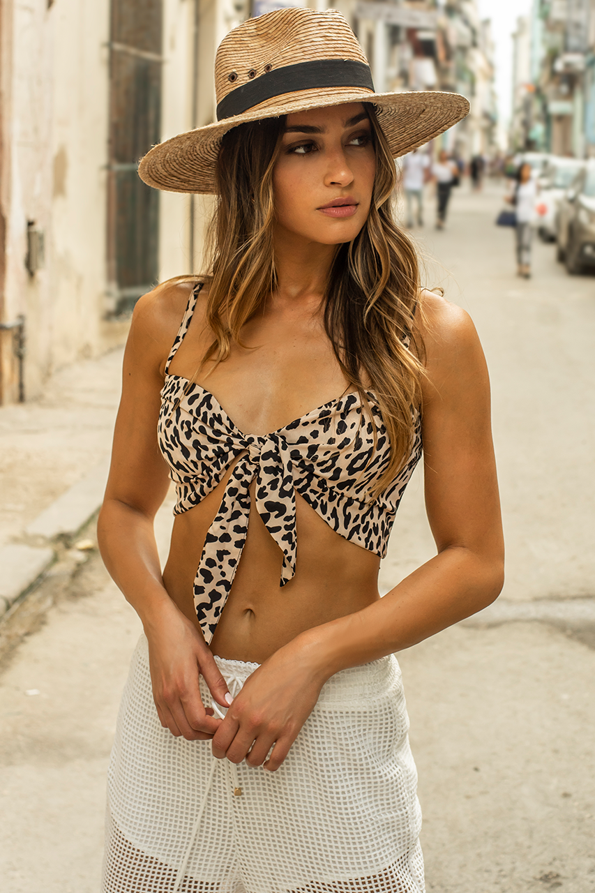 Safari Tie Top - Leopard