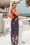 GOOD FORTUNE JUMPSUIT - NAVY PRINT