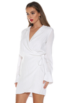 Hailey Wrap Dress - White