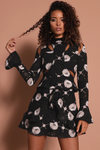 CAMELLIA DRESS - BLACK FLORAL