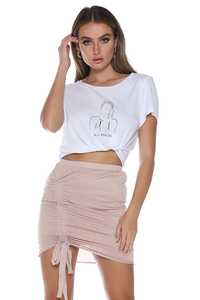 Bowie Mini Skirt - Blush