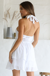 LEXI HALTER DRESS - WHITE