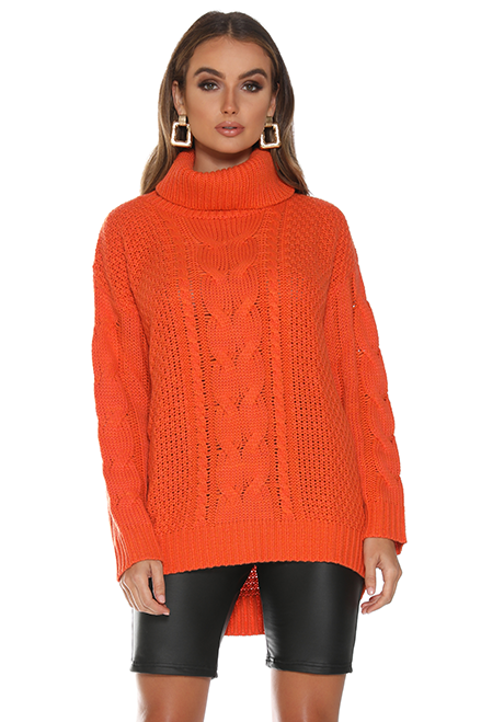 Cable Guy Sweater - Orange