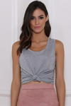 BRITTANY TANK TOP - GREY MARLE