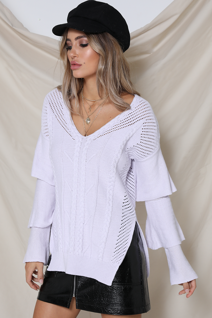CLOUD NINE SWEATER - LAVENDER