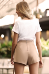 CHICAGO SHORTS - TAUPE
