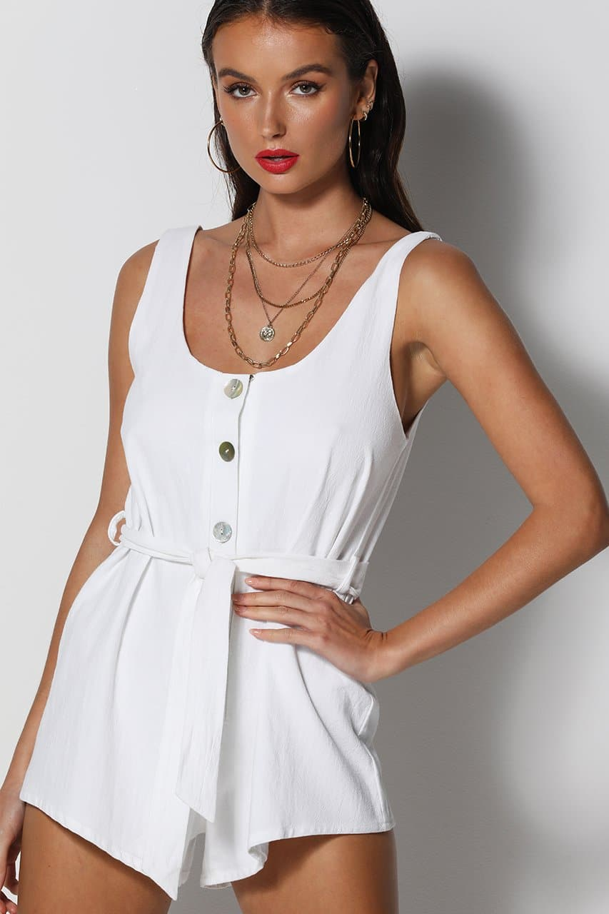 All Day Playsuit - White