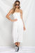 ANGELA JUMPSUIT - SAND/WHITE STRIPE