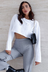 Free Form Top - White