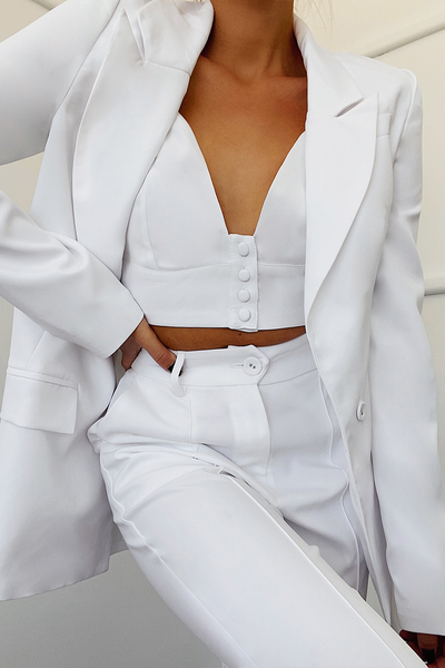 NEED WANT BLAZER-WHITE