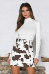 Noelle Skirt - Cow Print