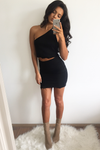 Bobbi Mini Skirt- Black