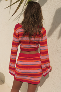Zorya Knit Top - Pink/Red