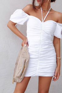 LITA MINI DRESS-WHITE