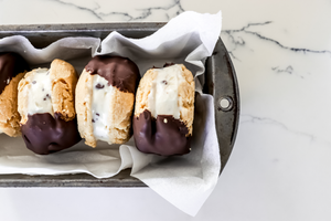 Double Dipped Icecream Sandwiches