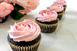 Pretty Pink Natural Buttercream Frosting