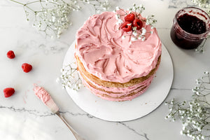 Layered Lemon Raspberry Cake