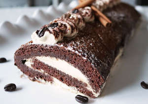Tiramisu Gingerbread Roll Cake!