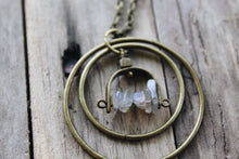 "Load image into Gallery viewer, 30"" Labradorite Arch Necklace"