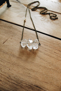Faceted Quartz Bar Necklace