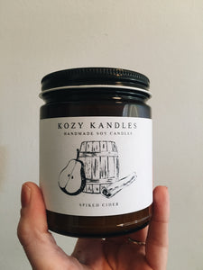 Spiked Cider - Kozy Kandles 9 oz. Soy Candle