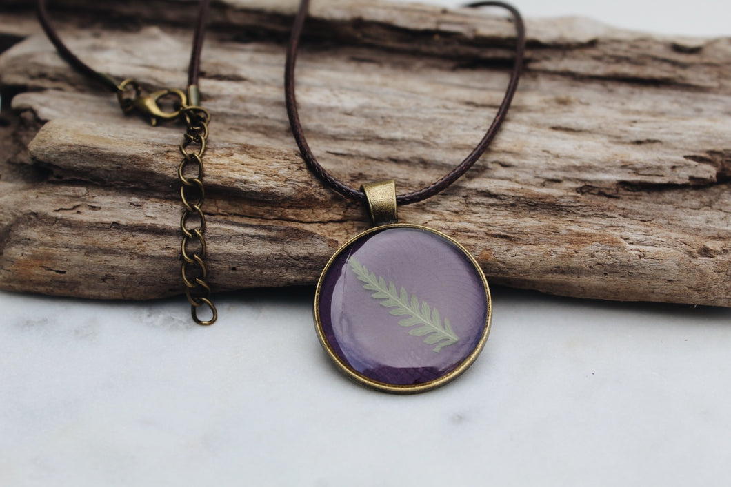 Pressed Fern Necklace